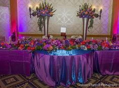 indian wedding reception floral decor http://maharaniweddings.com/gallery/photo/11893