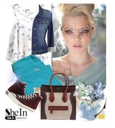 """""""Shein top"""" by irinavsl ❤ liked on Polyvore featuring Paige Denim, CÉLINE and Converse"""