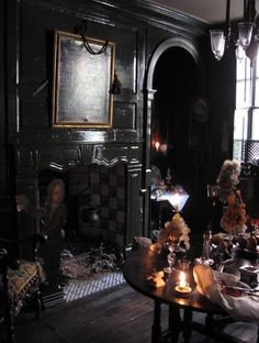 Haunted:  #Haunted living ~ Dennis Severs house in Spitalfields, England.