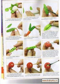 amazing vegetable and other tutorials http://www.kuharka.ru/talk/deco/mk/4736.html?p=21