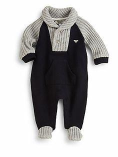 Armani Junior Infant's Knit Footie