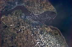 Hull and the Humber Estuary, Yorkshire, England, on a picture-perfect beautiful day.
