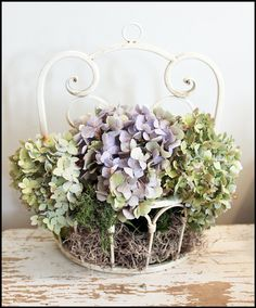 Perfect for dried hydrangeas...