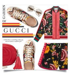 """""""Presenting the Gucci Garden Exclusive Collection: Contest Entry"""" by sonny-m ❤ liked on Polyvore featuring Gucci, Haze and gucci"""