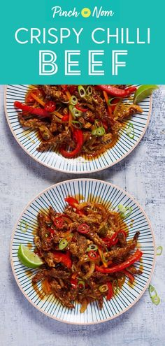 Heres our slimming friendly version of crispy chilli beef! a delicious fakeaway even if you are calorie counting or ing a diet like weight watchers chicken chapli kabab Chilli Beef Recipe, Crispy Chilli Beef, Slimming World Fakeaway, Slimming World Recipes, Slimming World Chilli Beef, Slimming World Treats, Low Calorie Recipes, Healthy Recipes, Pinch Of Nom