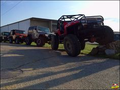 Line \'em up. It\'s only Tuesday and we\'re counting down the days until the weekend. ---------------------------------------------------------------- #Jeep #TJ #YJ #JK #Wrangler #Axleboy #stl #stpeters #jeepthing #olllllllo #lifted #tuesday #kcco #jeepher