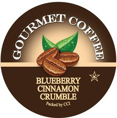 Blueberry Cinnamon Crumble Coffee, Single Serve Cups for Keurig K-Cup Brewers, 24 Count
