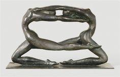 black - women - figurative sculpture - Karl Heinz Krause,
