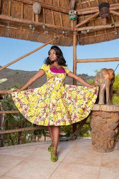 Laura Byrnes Alfreda Dress in Hawaiian Baton Rouge Floral Print | Pinup Girl Clothing