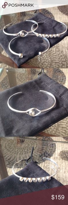 """Brand New!! Sterling Silver Bracelet Trio Brand New!! Brushed .925 Sterling Silver & Cubic Zirconia Bracelet Trio!! Comes in the original box, & of course it's in MINT CONDITION!! IT WAS NEVER WORN! Fits up to a 7 3/4""""wrist. Pics do not do this trio of beauty, justice....:) THEY'RE ABSOLUTELY STUNNING!! Deb Guyot's Designs Jewelry Bracelets"""