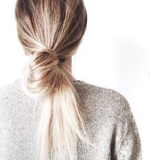 looped low pony | hair