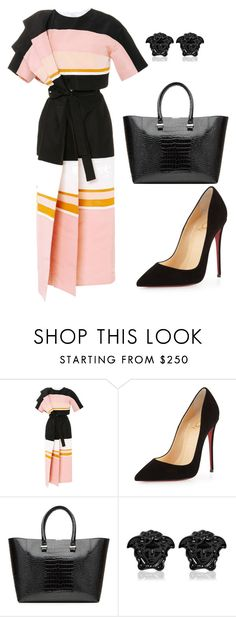 """""""style theory by Helia"""" by heliaamado on Polyvore featuring moda, Rosie Assoulin, Christian Louboutin, Victoria Beckham e Versace"""