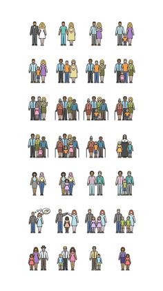 Types of Families - Free icon set on Behance