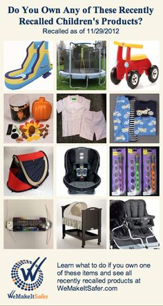 Recently recalled children s products including bassinets car seats