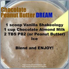 shake to lose weight peanut butter Holy Smokes Peanut Butter Chocolate with a Vanilla Bean twist! Try this Vanilla Shakeology Recipe! Click the image for more info. 310 Shake Recipes, Protein Shake Recipes, Protein Shakes, Best Shakeology Recipes, Vanilla Shakeology, Chocolate Shakeology, Healthy Drinks, Healthy Recipes, Ninja Recipes