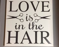 Painted canvas sign gifts for hairstylist by MySunshineDecor