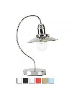 Industrial Chrome Fishermans Table Light