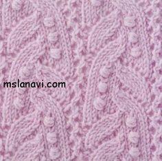 Ажурный узор спицами №63 | Вяжем с Ланой http://mslanavi.com/2013/12/azhurnyj-uzor-spicami-63/