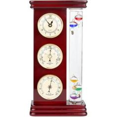 Lily's Home Analog Weather Station, with Galileo Thermometer, a Precision Quartz Clock, and Analog Barometer and Hygrometer, 5 Multi-Colored Spheres L x W x H) - Gold Galileo Thermometer, Wind Speed And Direction, Weather Instruments, Temperature And Humidity, Home Security Systems, Clock, Ebay, Quartz, Weather Unit