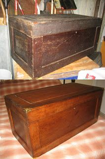 Depression Era Tool Chest - Blanket Chest Conversion (Before & After)  www.idlewoodworker.com