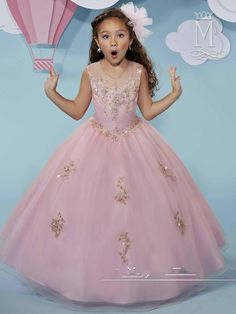 Kids Pageant Dresses, Girls Dresses, Pink Flower Girl Dresses, Flower Girls, Bridal Wedding Dresses, Mary's Bridal, Dress Picture, Tulle Dress, Evening Gowns