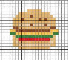Free Hamburger Cross Stitch Pattern
