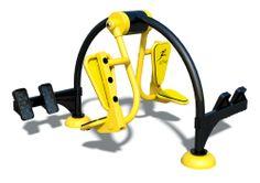 Leg Press-Double Weight Lifting Equipment, No Equipment Workout, Outdoor Workouts, Gym Workouts, Fitness Trail, Lat Pulldown, Outdoor Fitness Equipment, Playground Design, Leg Press