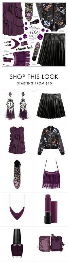 """""""GIRL POWER: Power Look"""" by purestylebyluna ❤ liked on Polyvore featuring Steve Madden, Markus Lupfer, Jeffrey Campbell, MAC Cosmetics, NARS Cosmetics, girlpower and powerlook"""
