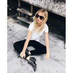 @zorannah being a totaly babe in our Krista Super Skinny in Raven