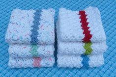 Simple Stripes Crochet Dishcloth - free pattern