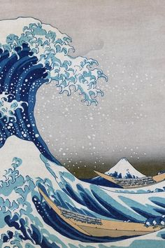 Show off your artistic abilities with style! This 200 page acid-free sketchbook features the Great Wave off Kanagawa by Hokusai. Hokusai did a series of woodblock prints with Mt Fuji. 1440x2560 Wallpaper, Waves Wallpaper, Aesthetic Iphone Wallpaper, Aesthetic Wallpapers, Wallpaper Backgrounds, Apple Wallpaper, Artistic Wallpaper, Japanese Wallpaper Iphone, Wallpaper Ideas