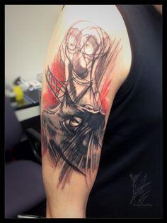 #wildlinestattoo #dodac #dodactattoo #abstracttattoo #colortattoo #inked #ink #linear #cheyennehawk #eternalink #pantheraink #tattrx #tatoogirl #czechtattoo #pilsen#divadlopodlampou Line Tattoos, S Tattoo, Czech Tattoo, Cheyenne Hawk, D Line, Trx, Watercolor Tattoo, Tatting, Bobbin Lace