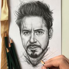 by Robin Amar from (📷ro Pencil Sketch Portrait, Portrait Sketches, Pencil Art Drawings, Art Drawings Sketches, Realistic Drawings, Portrait Art, Avengers Drawings, Avengers Art, Marvel Art