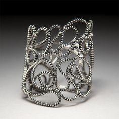 "Zipper Bracelet, ""Lace Gust"" – Mora Designer Jewelry"