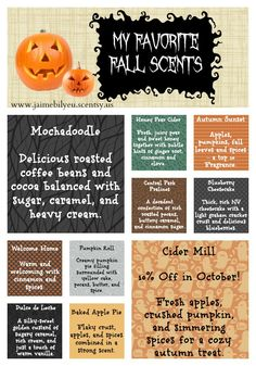 Scentsy Fall Scents: get yours today!! www.lindsy.scentsy.us