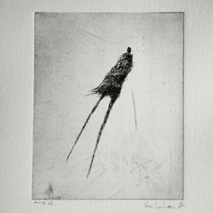 levitation Original Etching by valdas on Etsy, $15.00