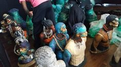 Here's what an army of Woodrow Nash sculptures look like. You can find them at the Black Art In America Fine Art Show in Houston. Opening tomorrow 6-9pm, Oct 27-29th at the Buffalo Soldiers National Museum. Www.blackartinamerica.com for more.