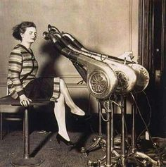Saç kurutma makinesi 1920' ler. . .