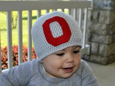 Ohio State University OSU Buckeyes Crochet Hat by EweniqueBoutique, $20.00