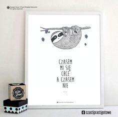 Leniwiec - Szast-i-Prast - Plakaty dla dzieci