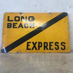 Vintage Pacific Electric Railway Sign