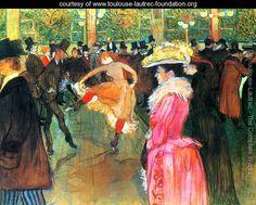 At the Moulin Rouge, The Dance    Henri De Toulouse-Lautrec