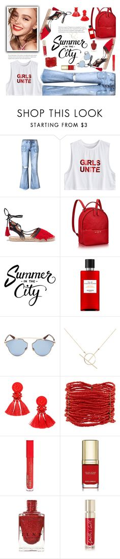 """""""Summer in the city!"""" by marialibra ❤ liked on Polyvore featuring Naomi Campbell, Iris & Ink, Hermès, Christian Dior, A Weathered Penny, Berry, L.A. Colors, Dolce&Gabbana and Smith & Cult"""