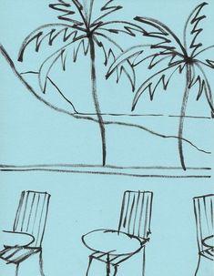 """topmatter: """"John Zabawa Los Angeles, 2018 Ink on Paper """" Simple Illustration, Graphic Design Illustration, Funky Art, Little Golden Books, Branding, Art Inspo, Line Art, Art Drawings, Sketches"""