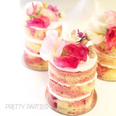 MNK-22 How delicious do our white raspberry mini naked cakes look?  #cake…