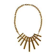 Pierre Cardin Mod Fringe Necklace | From a unique collection of vintage more necklaces at https://www.1stdibs.com/jewelry/necklaces/more-necklaces/