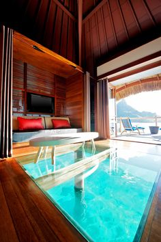 Premium Over water Bungalows | Luxury Beach Villas and Bungalows at Le Meridien Bora Bora.. RP for you by http://www.amazon.com/dp/B00DC24HBG