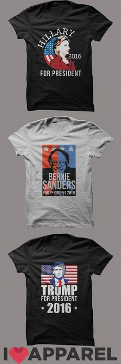 Who is getting your vote? Show your support with one of our many political shirts! Find them only at iloveapparel.com