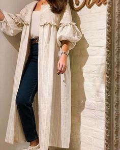 Street Hijab Fashion, Abaya Fashion, Muslim Fashion, Modest Fashion, Fashion Clothes, Fashion Dresses, Kimono Fashion, Fashion Pants, Fashion Fashion