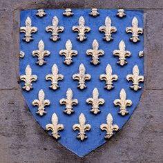 Heraldic shield [«France ancien»], St. Nicholas Church, Great Yarmouth, Norfolk, England, UK -- photo by Leo Reynolds, 2005